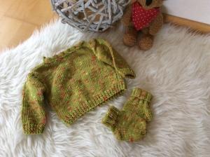 Fröhlicher Babypullover für süße Mädels - Handarbeit kaufen