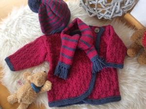 Freches Baby Jackenset für coole Mädels - Handarbeit kaufen