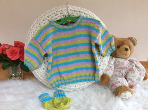 Farbenfroher Kinder Sommerpulli - Handarbeit kaufen