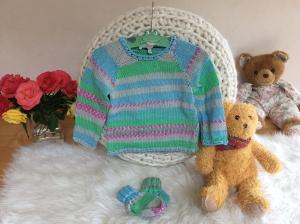 Modischer Baby Sommer Pullover - Handarbeit kaufen