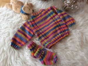 Sommerlicher Babypulli für kessen Mädels - Handarbeit kaufen