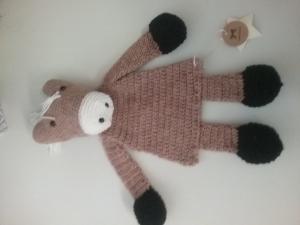 gehäkeltes Pferd zum kuscheln aus fusselfreier Wolle / VERKAUFT