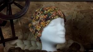 Wollmütze in wunderschönen Naturfarben, handgestrickt, Unikat
