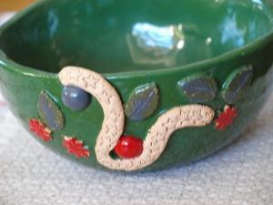 Keramik Schale in grün