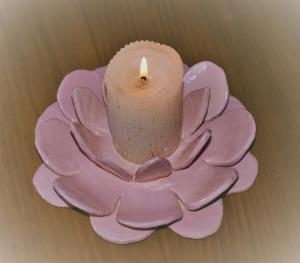 Kerzenhalter  Keramik mit drei schichten