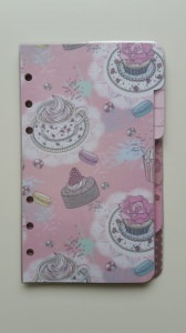 DIVIDER * Register * Filofax personal * vintage * candy
