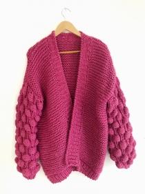Stylishe Strickjacke in Pink