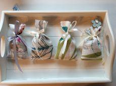 Duftkissen, Lavendel - Duftsäckchen, Lavendel-säckchen 4-Teilig, Handgemacht