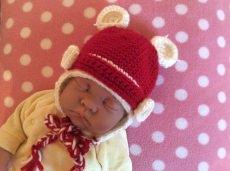 Babymütze, gehäkelte Babymütze, Handgemacht, Baby Häkelmütze
