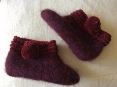 Kindersocken, gefilzte Socken, Hausschuhe, Handgemacht