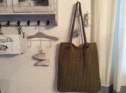 Tasche, Shopper, Handgemacht, gehäkelte Schultertasche