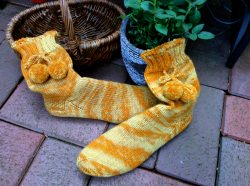 Handgestrickte Wollsocken, Selbstgestrickte Socken 38/39, Handgemacht