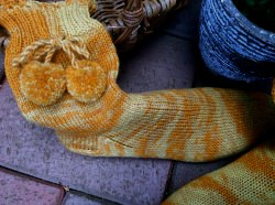 Handgestrickte Wollsocken, 38/39, Selbstgestrickte Socken, Handgemacht