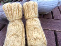 Babysocken, Handgemacht, FL. 10cm, Handgestrickte Babysocken