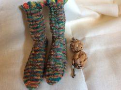 Handgestrickte Wollsocken, Handgemacht, Stricksocken 40/41