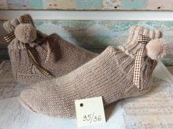 Handgestrickte Wollsocken, Handgemacht, Stricksocken 34/35