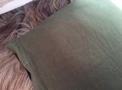 Kissenbezug, Handgemacht, 40x40cm, Leinen Kissen, Handgefertigt