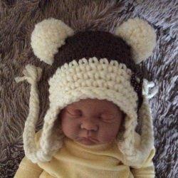 Handgemachte Babymütze, gehäkelte Babymütze für Neugeborene