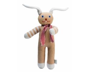 Stricktier Hase Benny, handgemachtes Kuscheltier aus ökologischer Baumwolle, 30cm