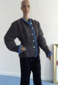 Gr.36, Handgestrickte Damen Jacke, Trachten, Schafschurwolle,bestellen