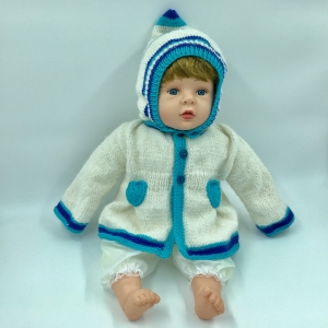 Gr.62/68, Jacke mit Kapuze für Babys, Wollgemisch mit Alpaka, kaufen