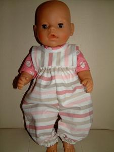 Latzhose Streifen Puppengröße 38bis43