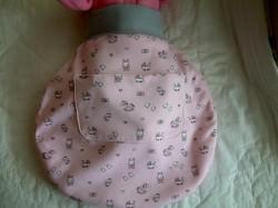 Puppenschlafsack, Puppenpuck, Puppenstrampelsack, maschinengenähter Schlafsack