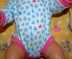 Puppenbody aus Jersey, Puppenunterwäsche, Unterwäsche, Puppenkleidung
