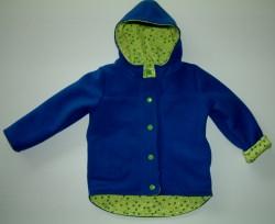 Kleinkindwendejacke aus warmen Fleece und Jerseystoff, Kapuzenjacke
