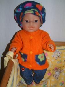 Puppenmantel ohne Mütze