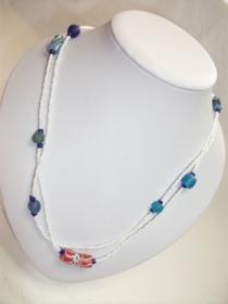 Tolle Kette- aus handgefertigten afrikanischen Glasperlen, handgefertigt