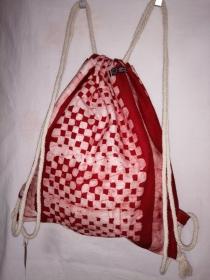 Turnbeutel aus handgebatiktem Baumwollstoff in tollen afrikanischen Farben - Handarbeit kaufen