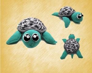 Willy die Wasserschildkröte (PDF Häkelanleitung)