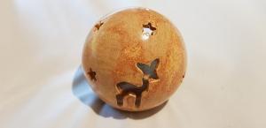 handgefertigte Windlicht mit Rehkitz und Sternen aus Keramik/ 9cm / im Shop stöbern - Handarbeit kaufen