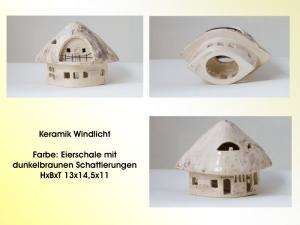 Windlicht aus Keramik in Natur, alles handgefertigt, Online entdecken auf Palandu - Handarbeit kaufen
