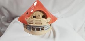 Windlicht, KaruselLicht klein in Keramik, Unikate Keramik by D.W., handmade, jetzt auch auf Palandu  - Handarbeit kaufen