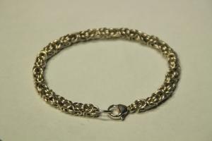 Handgemachtes Königsketten-Armband 925/000 Silber