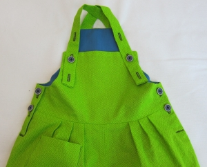 Grüne Babylatzhose aus Baumwolle, Gr. 80-92