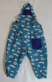 Blaue Elefanten Babylatzhose aus Baumwolle, Gr. 80-92