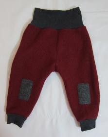 Rote Baby Wollhose, Pumphose; Gr.86-92
