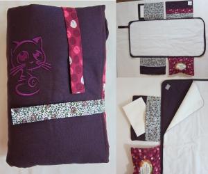 Wickelunterlage / Wickeltasche rosa