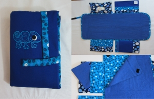 Wickelunterlage / Wickeltasche blau