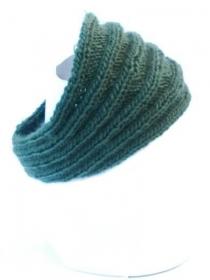 Grüne handgestrickte Stirnband. Handgefertigte Hipster Haarband, gestrickte Ohr Wärmer, Haarreife, Winter Haarband Herren, Kopf Wärmer Damen - Handarbeit kaufen