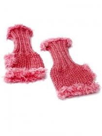 Handgestrickte rosa Pulswärmer, rosa Damenhandschühe, pink gestrickte Handstulpen, handgestrickte Armenstulpen - Handarbeit kaufen