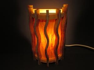 Wandlampe 1 aus Kelo- Holz & Birkenfurnier - Wandlampe - Kelolampe - Saunalampe