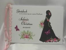 Gästebuch zur Hochzeit Braut mit Brautstrauß
