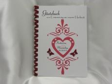 Gästebuch zur Hochzeit Herz Ornamente