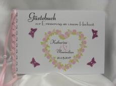 Gästebuch zur Hochzeit Rosenherz