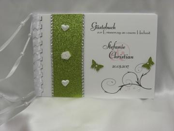 Gästebuch zur Hochzeit in grün