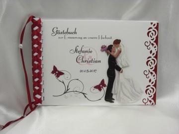 Gästebuch zur Hochzeit Nr. G004 viele Farben